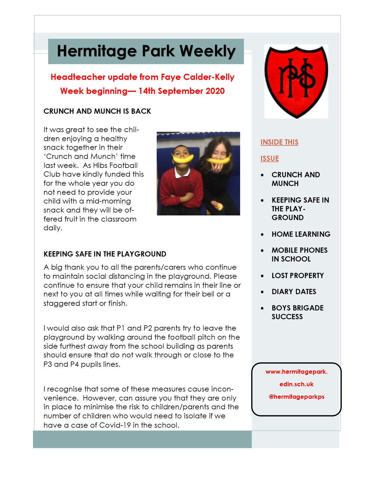 HP weekly update 14.09.20 page 1